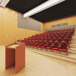 Conference Hall Amphitheater 3D