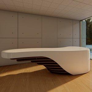 reception counter 3D
