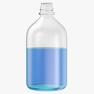 3D laboratory bottle big isopropanol