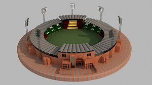 cricket qaddafi stadium 3D model