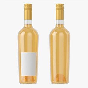 3D model Wine bottle mockup 16 screw cap