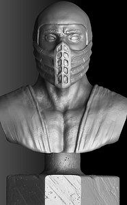 Scorpion.Bust.1995.3D Printable. 3D model