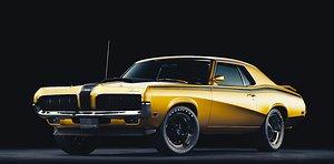 3D mercury cougar 1970