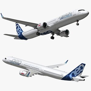 airbus a321 color house 3D model