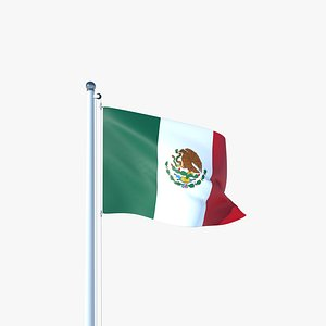 Animated Flag of Mexico 3D