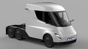 3D model Tesla SEMI 2021