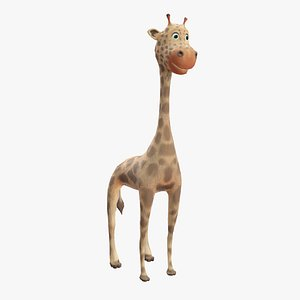 cartoon giraffe animation 3D model