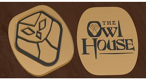 The Owl House emblem 3D model 3D model