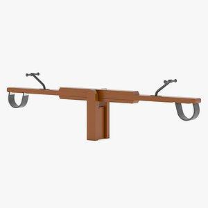 3D model Lappset Seesaw 03