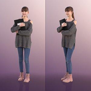 3D girl folder young model