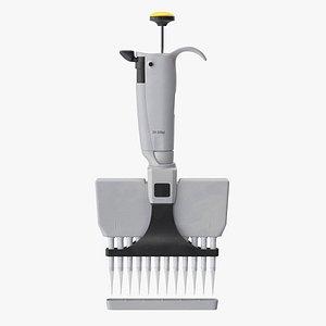 3D microliter pipette micro model
