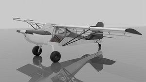 plane aviation aircraft 3D model