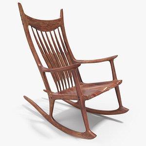 Rocking Chair ,8K PBR Textures model