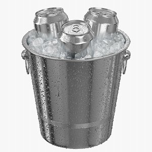 3D model Ice Bucket With 330ML Cans