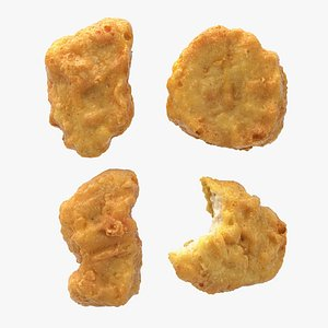 3D Realistic Chicken Nuggets model