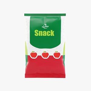 3D food packaging model
