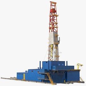 Uralmash Sectional Drilling Rig 3D model