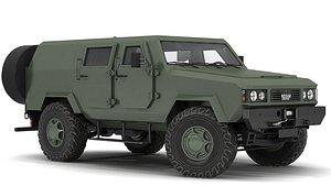 armored vehicle kozak 3D