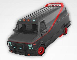 3D PolyCAR N12 Texture Version model
