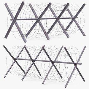 3D Razor Wire Coil Block model