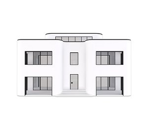 3D model villa scene