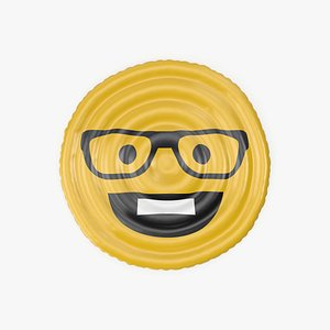 Emoji with Glasses and Teeth Pool Float 3D model