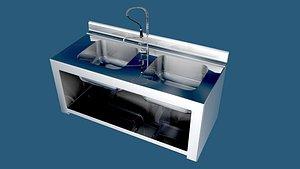 3D industrial kitchen dishing
