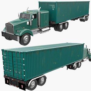 Container Cargo Trailer Truck 3D model