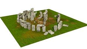 stone stonehenge 3D