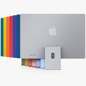 3D Apple iMac 24-inch 2021 All Color model