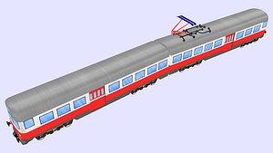 3D model finnish sm 1 passenger train