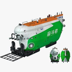 China Struggle 10000 meter manned submersible 3D model