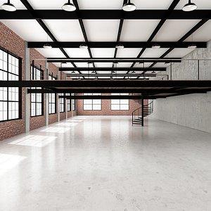 industrial loft office 3D model