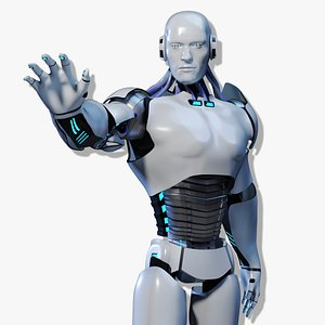 3d android male model