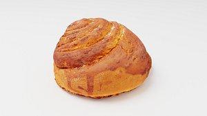 Roll or bun with cinnamon model