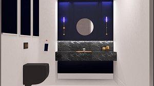 toilet room model