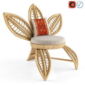 3D Arya rattan chair