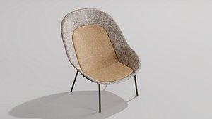 Nook PET Felt Lounge Chair by De Vorm 3D model