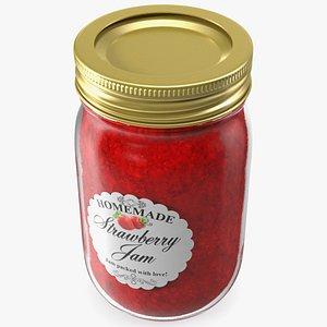 3D jam jar strawberry