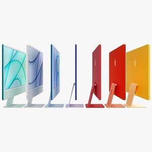 "3D iMac 2021 24"" model"