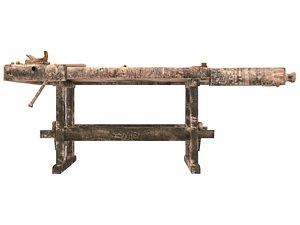 Woodworking Workbench 3D