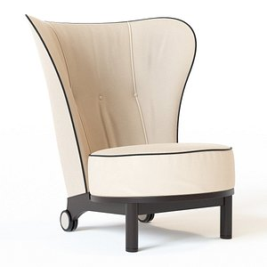 swivel wing chair 3D model