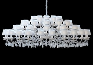chandelier lamp lights 3D model