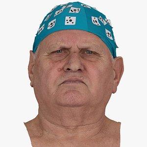 Homer Human Head Inner Brow Raiser AU1 Raw Scan 3D model