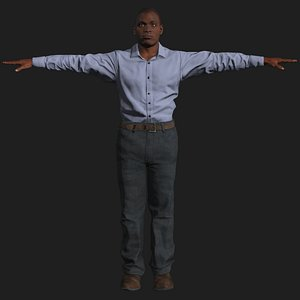 3D american business man casual