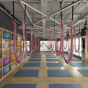 yoga studio design 3D