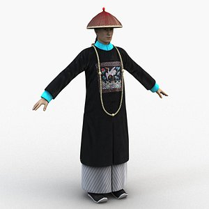 3D qing dynasty official
