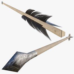 Ultra lowpoly arrow model