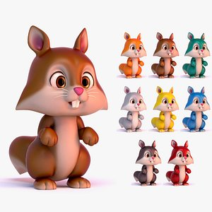 squirrel animal character 3D model