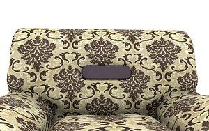 3D 1 sit Pattern sofa- flower model